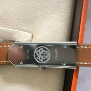Hermes Accessories - HERMES Vintage Kelly 2 Double Tour Leather Watch
